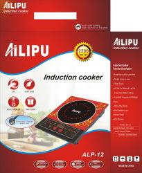 Induktions-Kocher ALP-12 des Ailipu Haushaltsgerät-Küchenbedarf-2200W mit blauem Licht