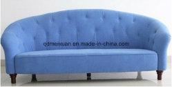 계약하다 현대 거실 사무실 호텔 3 창조적인 형식 소파 파란 피복 예술 소파 실제적인 목제 현대 소파 (M-X3290)