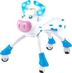 Version aggiornato Blue & Pink Lovely Cow Baby Walking Car con Wheels Animals Kids Ride su Car 10218546