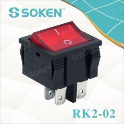 照らされたロッカースイッチ10A 250VAC