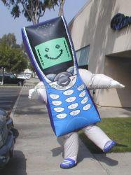 Costume gonflable, téléphone mobile se déplaçant de la mascotte de bande dessinée (K6013)