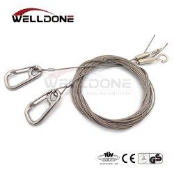 中断ハンガーのためのワイヤー安全ケーブルを高く上げる電流を通されたロープ
