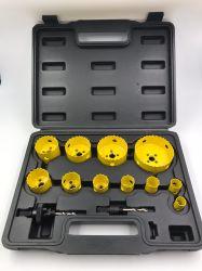 Las brocas de perforación de 14 piezas de la industria Bi-Metal KIT SIERRA PERFORACIÓN herramienta Cuadro de golpe con la punta