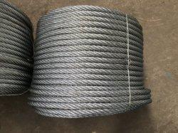 Corda galvanizzata elettrotipia 6X24+7FC del filo di acciaio della corda di pesca con l'imballaggio della bobina