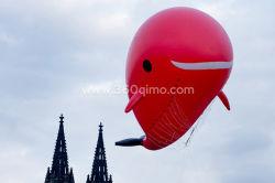 Im Freien aufblasbare bekanntmachende Haifisch-schalldichte Zelle LED, die aufblasbares Luftschiff für Förderung beleuchtet