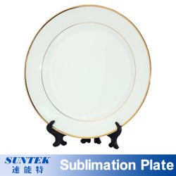 La sublimation vierge de l'impression complète de la Porcelaine Céramique de la plaque de verre de métal