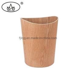 Pattumiera fatta dell'interno del salice di colore della cucina di legno su ordinazione di legno naturale della pattumiera per la famiglia