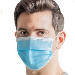 Maschera di protezione a gettare sanitaria standard medica di Earloop delle 3 pieghe del virus -50 PCS/Box