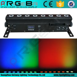 리게바 8W 64W RGBWA 5 in 1 LED 무선 배터리 이벤트를 위한 LED 벽 와셔 조명