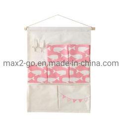 A impressão de moda 7 Pocket Algodão Saco para pendurar na parede / Banho de Porta à prova de saco de Armazenamento / Armazenamento Multi-Layer Saco para pendurar