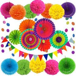 Insiemi di carta d'attaccatura multicolori dei ventilatori