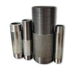 Capezzoli del tubo galvanizzati il nero lungo del acciaio al carbonio del filetto