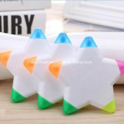 子供のギフトの韓国人の文房具のためのロゴの三角形のプラスチックHighlighterのペンの新型項目を印刷した