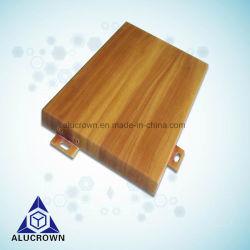 カーテンウォール用アルミニウムパネル木製グレインソリューション
