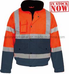 反射安全Workwearのジャケットに着せる高い可視性