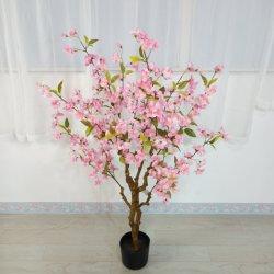 Fiore artificiale della ciliegia di ciliegia della presa di fabbrica dell'albero di seta decorativo del fiore