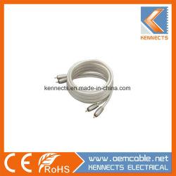 Ke Z7 OFC HiFi de Metal Cable RCA 2a 2Cable RCA