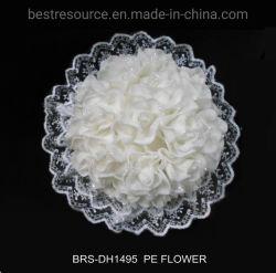 Toque real de flores artificiais PE White Rose exploração bouquet de flores cacho decoração de casamento