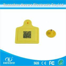 El TPU UHF RFID no tóxico marca auricular de animales