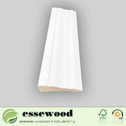장식적인 단단한 나무 주조 백색 Pre-Painted 둘러싸는 베이스 보드 벽면