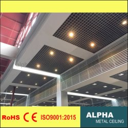 Aluminium verschobene Metalfalsche dekorative Zellen-Ineinander greifen-Decke