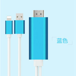 Bliksem aan de Adapter van de Kabel van TV AV HDMI/HDTV voor iPhone 5/5c/5s/6/6s/6plus