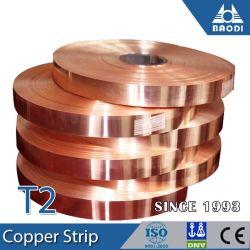 T2 en alliage de cuivre rouge Strip JIS H3100 2000t-O fabriqués en Chine C11000, C10100 pour transformateur