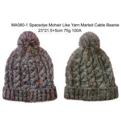 Les hommes de l'acrylique tricot chaud en hiver la Mode Câble de la marne Bobble Hat Cap