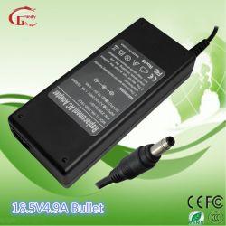 HP/Acer/Asus/Liteon/ToshibaのセリウムUL CCC RoHSの証明書のための18.5V 4.9A 90Wのラップトップの充電器AC DC電源のアダプター