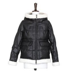 フード付きデザイン偶然白い毛皮の端および方法服装に着せるジャケット2021の女性の方法冬のジャケットの不足分