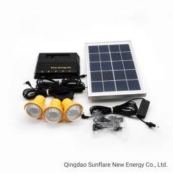 مصباح LED محمول/مصباح LED/نظام الإضاءة المنزلية للطاقة الشمسية USB مع شواحن الهواتف المحمولة