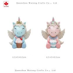 Piccolo regalo della torta della decorazione dell'unicorno della ragazza bella miniatura su ordinazione del Figurine