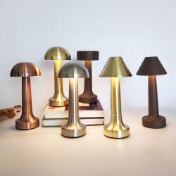 Brown, argento, lampada senza cordone della Tabella della batteria ricaricabile LED di colore del ristorante moderno Bronze dell'hotel