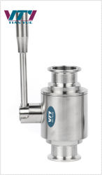 위생적인 식품용 수동 공압 양방향 스테인리스 스틸 볼 밸브 클램프 끝
