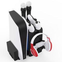 O novo joystick do console do disco de jogo Stand Carregador Duplo ventilador de refrigeração Dock Suportes Sistemas Acessórios para a Sony Playstation 5 PS Move