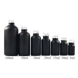 E-vloeibare e-Cig 50ml 100ml die de Berijpte Zwarte Fles van de Essentiële Olie van de Fles van het Druppelbuisje van het Glas bespuiten