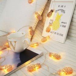 Chaîne de métal d'ananas de lumière LED fonctionne sur batterie Fairy cadeau de la lampe