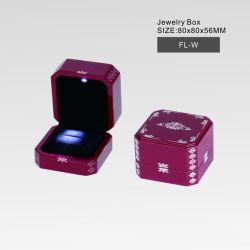 Casella di Jewl del reticolo del laser con l'indicatore luminoso del LED, nuovo lusso di disegno/alta qualità/quadrato di legno/pacchetto cosmetico del regalo del profumo della vigilanza dei monili fabbrica del documento/plastica/cuoio/velluto