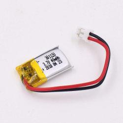Fornecedor de fábrica 3.7V 40 mAh 80mAh 100mAh pequena bateria de polímero de lítio para GPS