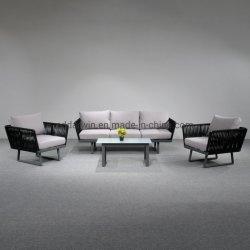 Divano Lounge In Alluminio Da Giardino All'Aperto Di Fascia Alta Con Tessitura A Corda