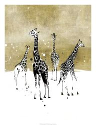 Hechos a mano Ilustración Fotografía animal salvaje de la jirafa Óleo sobre tela