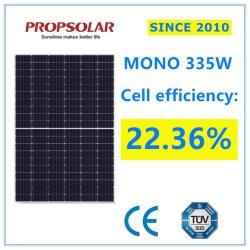 Tamanho pequeno grau Perc Mono fotovoltaicas 335W Célula Solar PV do módulo do painel de alimentação de energia com o Melhor Preço