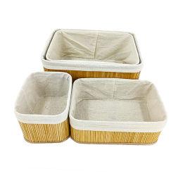 El Bambú de mimbre cesta de picnic artesanales tejidas a mano Eco friendly Producto para actividades al aire libre o almacenamiento