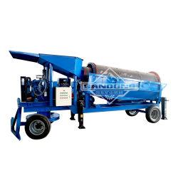 Placer Gold Processing Plant schermo mobile Trommel tamburo