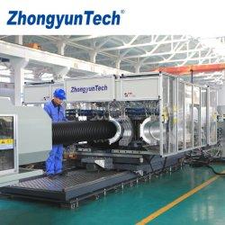 Zc-600H PE/HDPE 배수로 사용되는 플라스틱 골지형 파이프 압출 라인/강수/강수/케이블 도관/전기 도관/외부 공기 환기