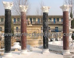 Сад дома архитектурные декоративные вырезанными из камня римскими колоннами мраморным Карвинг греческого конический колонки для использования внутри помещений для использования вне помещений (QCM118)
