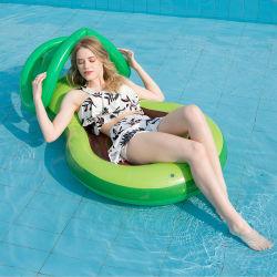 Nouvelles de l'avocat gonflable lit flottant en PVC Piscine gonflable Ring gonflable adulte lit flottant avec parasol Chaise de Salon de l'eau