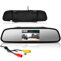 """Автомобильный монитор на экране 4,3"""" ЖК-дисплеем TFT цветной монитор зеркало заднего вида автомобиля задним ходом вспомогательную камеру заднего вида DVD 12V"""