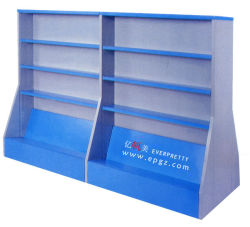 Conception d'étagère en bois Meubles de la bibliothèque Bibliothèque pour les enfants de maternelle mobilier scolaire
