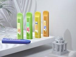 Hot vendre l'E-CIGS Pack Hqd Cuvie Vape jetables étanches Mini Vape 300bouffées E colorés RGI E vapeur de plumes